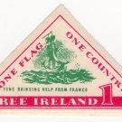 (I.B) Ireland Political : Free Ireland Label (Wolf Tone)