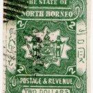(I.B) British North Borneo Postal : $2 Green (imperforate)