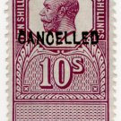 (I.B) George V Revenue : Unappropriated Die Proof 10/-