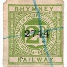 (I.B) Rhymney Railway : Letter Stamp 2d