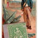 (I.B) US Cinderella: Duke & Sons Cigarette Card + Stamp (Plantation Mail)
