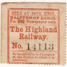 (I.B) The Highland Railway : Newspapers ½d