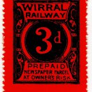(I.B) Wirral Railway : Newspaper Parcel 3d