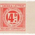 (I.B) Cavan & Leitrim Railway : Letter Stamp 4d
