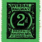 (I.B) Wirral Railway : Newspaper Parcel 2d