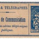 (I.B) France Telegraphs : Bulletin de Conversation 25c (1900)