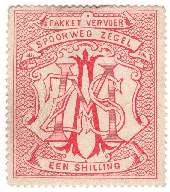 (I.B) South Africa Railways : Parcel Stamp 1/-