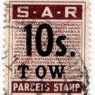(I.B) South Africa Railways : Parcel Stamp 10/-