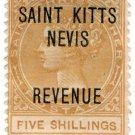 (I.B) St Kitts & Nevis Revenue : Duty 5/-