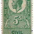 (I.B) George V Revenue : Civil Service 5/-