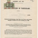 (I.B) George VI Revenue : Police Courts 5/- (complete document)