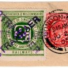 (I.B) Portpatrick & Wigtownshire Railways : Letter Stamp 2d (Stranraer postal)