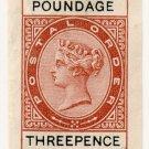 (I.B) QV Revenue : Postal Order Poundage 3d