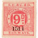 (I.B) South Eastern & Chatham & Dover Railways : Farm Produce 9d