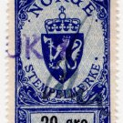 (I.B) Norway Revenue : Duty Stamp 20 Øre