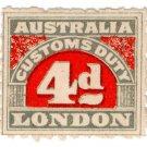 (I.B) Australia Revenue : Customs Duty 4d (roulette)