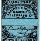 (I.B) British & Irish Magnetic Telegraph Company 5/- (watermarked paper)