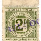 (I.B) Sligo Leitrim & Northern Counties Railway : Letter Stamp 2d (Belcoo)