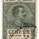 (I.B) Italy (Libya) Revenue : Duty Stamp 25c (1922)