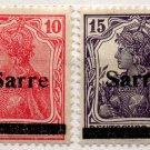 (I.B) Germany Postal : Saar Overprints