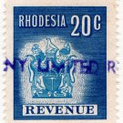 (I.B) Rhodesia Revenue : Duty Stamp 20c