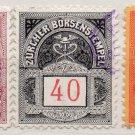 (I.B) Switzerland Revenue : Zurich Borsenstempel Collection