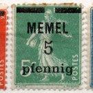 (I.B) France Postal : Memel Overprint Collection