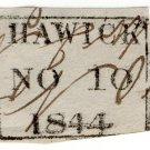 (I.B) QV Postal : Postmark Collection (Hawick 1844)