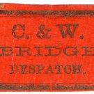 (I.B) US Local Post : C&W Bridge Despatch
