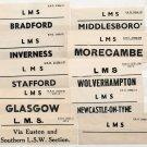 (I.B) London Midland & Scottish Railway : Parcel Label Collection