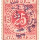 (I.B) Denmark Railway : Parcels 25 Øre