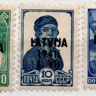 (I.B) Russia Postal : Latvia Overprints (1941)
