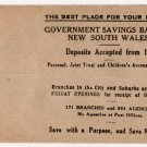 (I.B) Australia - NSW Revenue : Government Savings Bank Envelope