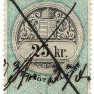 (I.B) Austria/Hungary Revenue : Stempelmarke 25kr