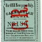 (I.B) Caledonian Railway : Newspaper Parcel Label