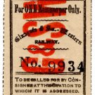 (I.B) Glasgow & South Western Railway : Newspaper Parcel