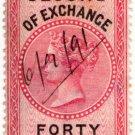 (I.B) Mauritius Revenue : Bill of Exchange 40c