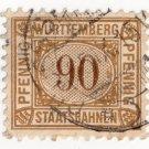 (I.B) Germany Railway : Württemburg Parcels 90pf