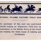 (I.B) Cinderella Collection : National War Savings - Field Gun Postcard