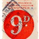 (I.B) British Railways Board : Newspaper Parcel 9d