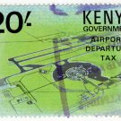 (I.B) KUT Revenue : Kenya Airport Departure Tax 20/- (underprint)