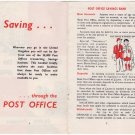 (I.B) Cinderella Collection : Post Office Savings Bank Booklet