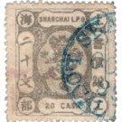 (I.B) China Local Post : Shanghai Local Post 20c (watermarked paper)