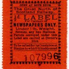 (I.B) Great North of Scotland Railway : Newspapers ½d