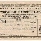 (I.B) North British Railway : Newspaper Parcel Way-Bill ½d