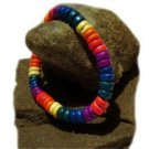 Gay Pride Rainbow Bracelet Anklet Coco Bead Puka Shell