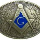 Masonic Oval Belt Buckle Bronze Colored Compass G Masons Freemason Metal