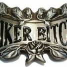 Biker Bitch Belt Buckle Metal Womens Harley Chick Sexy Girly