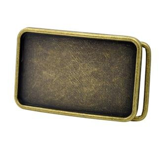 Bronze Blank Belt Buckle Rectangle Create Your Own DIY Buckle Design NEW