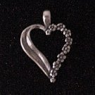 FORGET ME NOT HEART PENDANT 0.925 Sterling Silver Love and Undying Memory